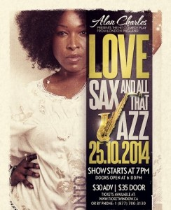 Love Sax And All That Jazz - October 25, 2014 - Toronto