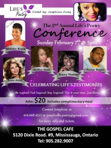 2nd Annual Life's Poetry Conference: February 7, 2016