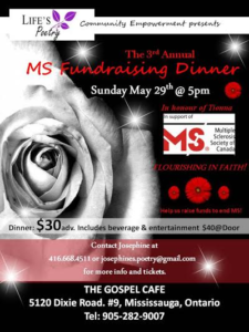 3rd Annual MS Fundraising Dinner - May 30, 2016