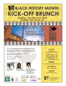 Ontario Black History Society - Black History Month Kick-Off Brunch 2016